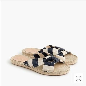 J.Crew knotted espadrille in stripe
